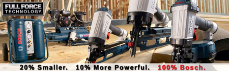Bosch Launches New Line of… Nailers!