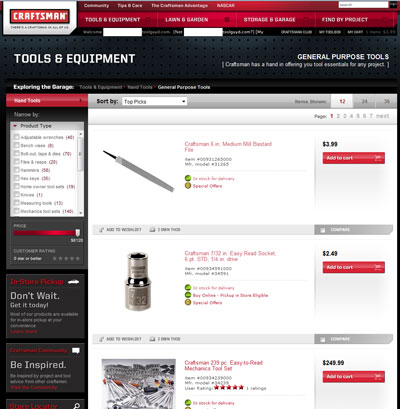 Craftsman Launches Standalone Online Tool Store!