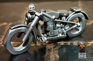 Brown Dog Welding Motorcycle
