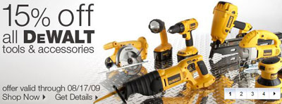 15% Off Dewalt Tools at Lowes