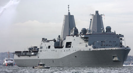 USS New York Arrives in NYC