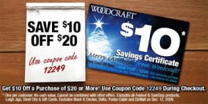 Woodcraft $10 off $20 Plus FREE SHIPPING!