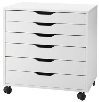 Ikea's Alex 6 Drawer Cabinet