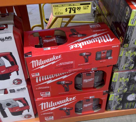 Power Tool Clearance at Home Depot