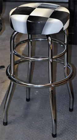 SharkBreath Craftsman Checkered Bar Stoolg