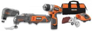 Ridgid JobMax 12V Auto Hammer & Multi-Tool Kit + Drill