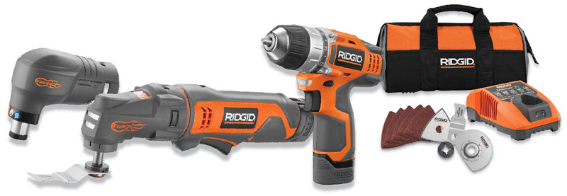ridgid jobmax 12v auto hammer multi tool kit drill. Black Bedroom Furniture Sets. Home Design Ideas