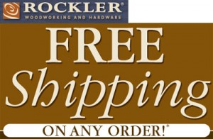 Free Shipping at Rockler on Any Order