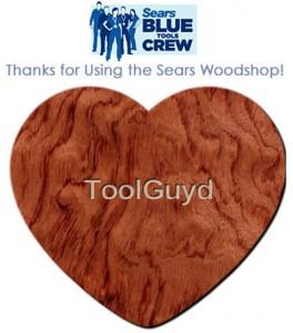 Sears Blue Tools Crew Facebook Woodshop App