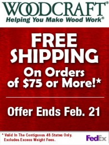Free Shipping or $10 off $75+ Orders at Woodcraft