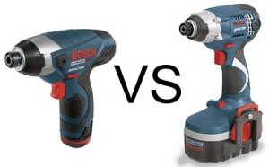 Bosch Impactor 12V vs 18V Comparison