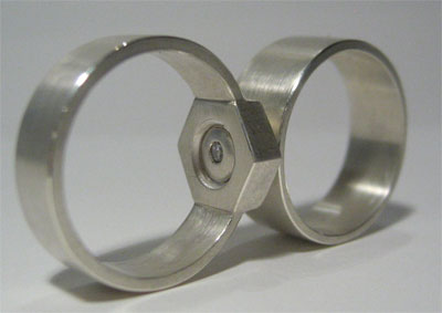 Mating Nut U0026 Bolt Wedding Bands