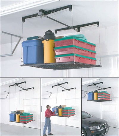 Racor PHL-1R HeavyLift Cable-Lifted Storage Rack