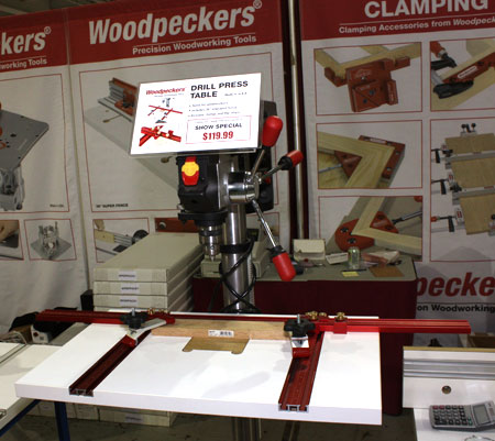 woodpeckers drill press table