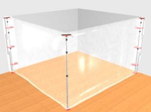 ZipWall ZipPole Quick & Easy Dust Barrier