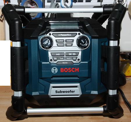 bosch power box 360 jobsite radio hands on review. Black Bedroom Furniture Sets. Home Design Ideas