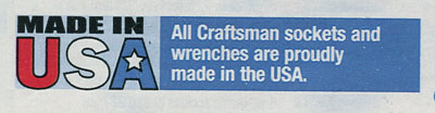Craftsman 2008 All Sockets & Wrenches Made in USA