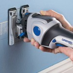 Dremel Trio Plunge Cutting Drywall