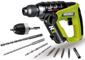 Rockwell H3 12 Volt Lithium Ion Cordless Rotary Hammer Drill