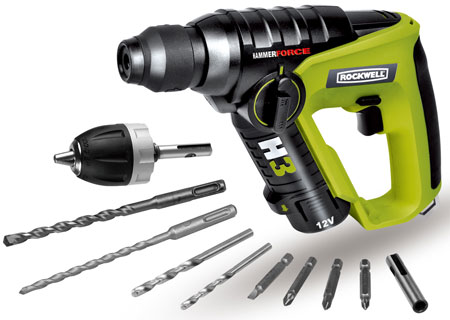 Rockwell's New 12-Volt H3 Rotary Hammer Drill