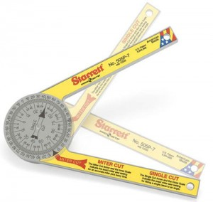 Starrett's New Plastic Miter Saw Protractor