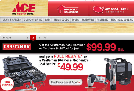 Ace Hardware Featuring Craftsman Tools