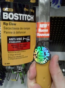 Bostitch New Rip Claw Hammer at Lowes