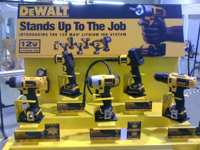 Dewalt 12V MAX Cordless Tool Display