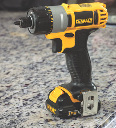 Dewalt 12V MAX Lithium Ion Cordless Screwdriver DCF610S2 Standing Up Angled View