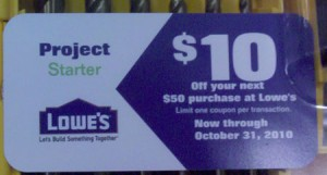 Lowes $10 off $50 Coupon in Select Dewalt Bit Sets