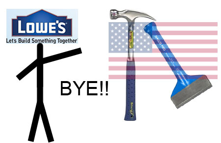 Lowes Stops Selling USA-Made Estwing & Dasco Pro Tools