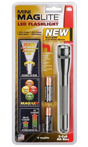 Maglite New 2 AA LED Flashlight with Electronic Switch