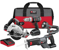 Porter Cable PCL418C-2 Lithium-Ion 18V Cordless Combo Tool Kit