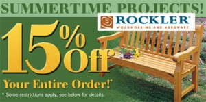 Rockler June 2010 15 Percent Off Discount