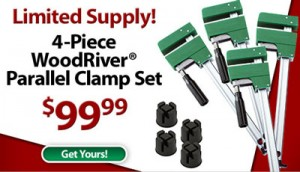 Woodcraft WoodRiver Parallel Clamp Set June 2010 Sale