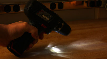 Bosch PS31 Work Light Pattern