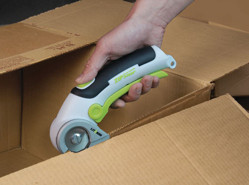ZipSnip Cordless Lithium Ion Cutter Cardboard Box Demo