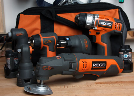 Ridgid JobMax Close Quarters and General Purpose Cordless Combo Sets