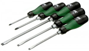 SK Hand Tools Tri-Molded Screwdriver Set
