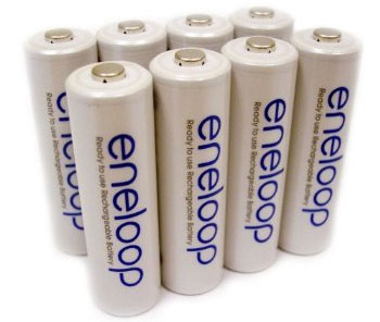 Sanyo Eneloop Pre-Charged Rechargeable Batteries