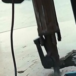 Iron Man 2 Bosch Electric Breaker Hammer Going at the Concrete Floor