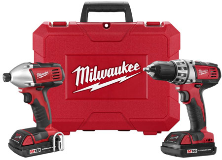 milwaukee 18v drill impact driver combo 199 hot deal. Black Bedroom Furniture Sets. Home Design Ideas
