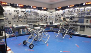 Ohio Power Tool Showroom with New Bosch System Specialist Display