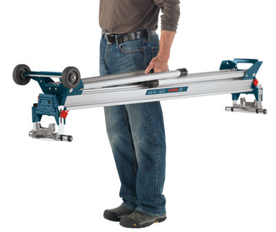 Bosch GTA3800 Folding Leg Miter Saw Stand Being Carried