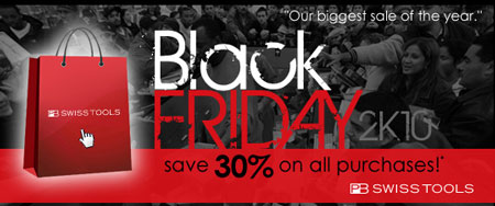 Count on Tools – 30% Off PB Swiss Tools Black Friday 2010!