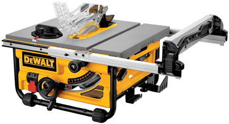 Secret upgrade dewalt dw745 table saw now has 20 inch rip capacity dewalt dw745 10 inch contractor jobsite table saw greentooth Choice Image