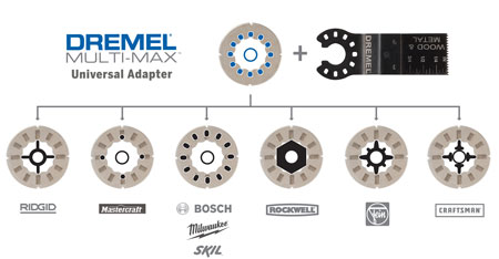 Dremel universal adapter fits all oscillating multi tools keyboard keysfo Image collections