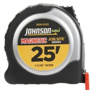 Johnson Level & Tool Magnetic Tip Tape Measures