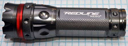 Nebo CSI Redline High Powered Flashlight Side View