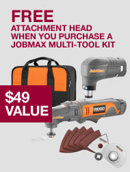 Free Ridgid JobMax Attachment Head with Multi-Tool Starter Kit
